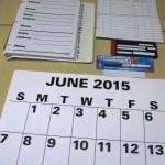 Calendars and address books display
