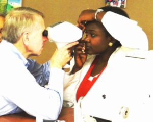 Staff testing for glaucoma