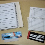 Check register, writing guide and black pen display