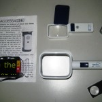 Various handheld magnifiers display